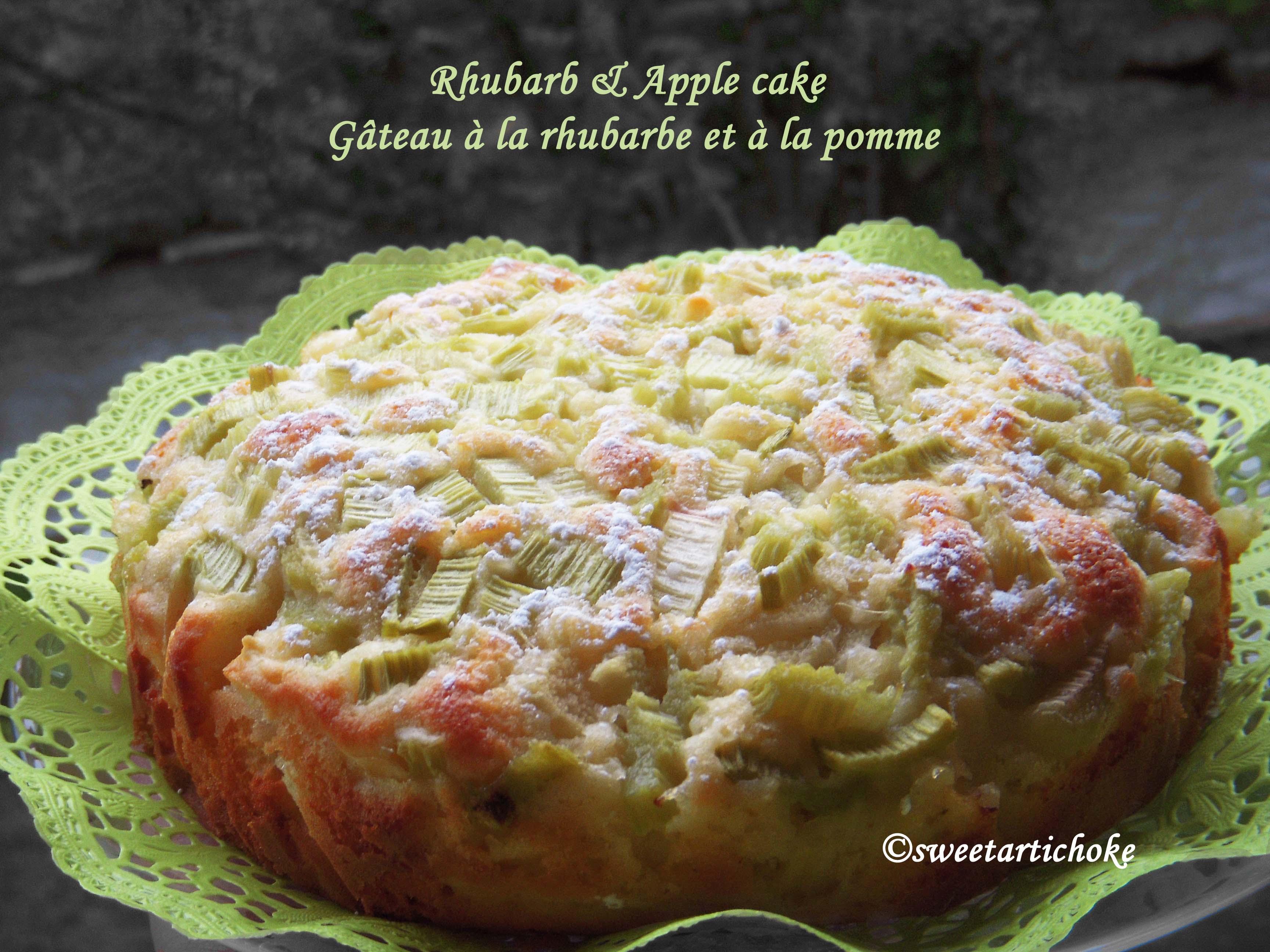 rhubarb apple cake g teau pomme rhubarbe sweet artichoke. Black Bedroom Furniture Sets. Home Design Ideas