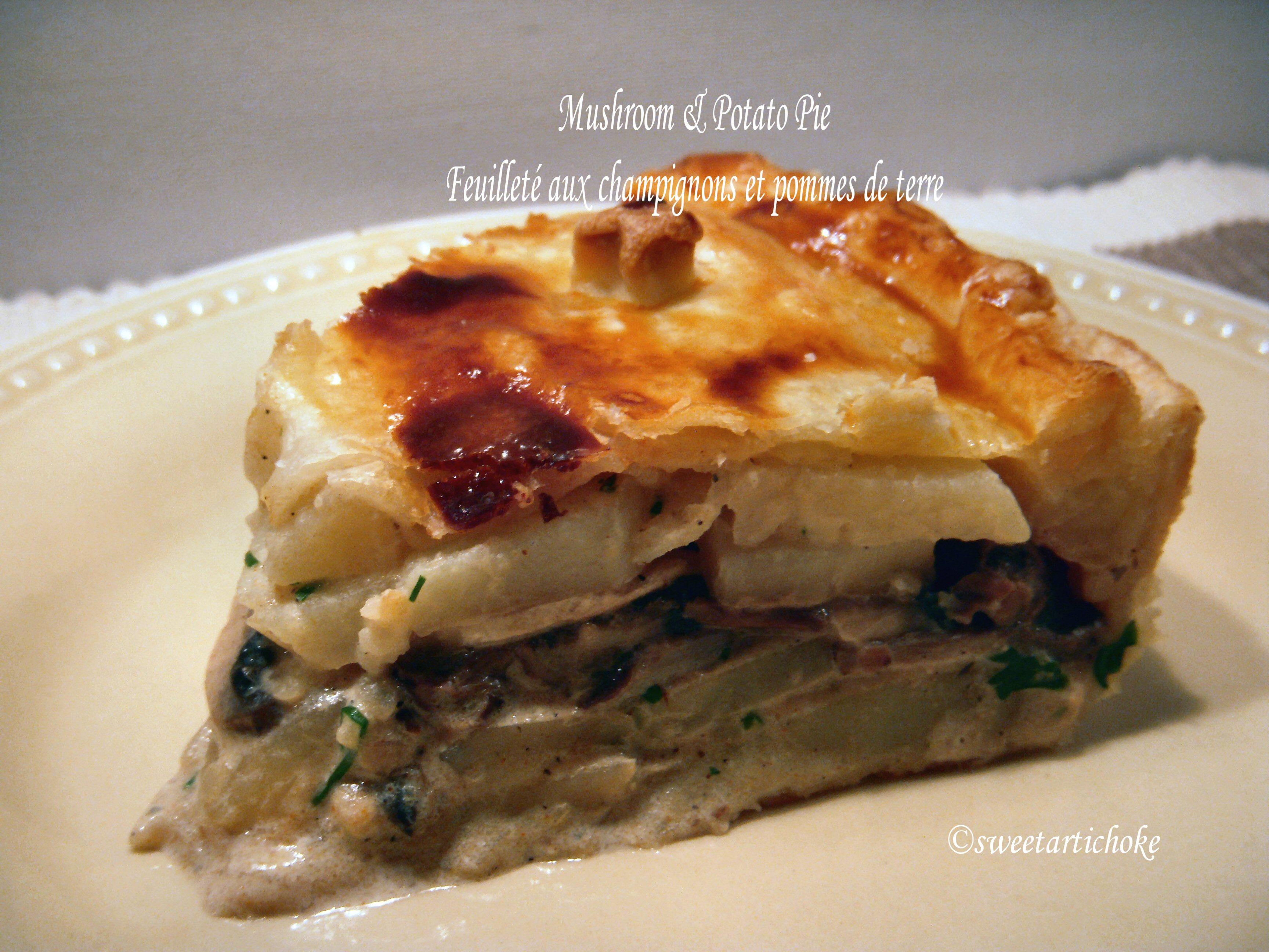 Potato-Mushroom Pie Recipe — Dishmaps