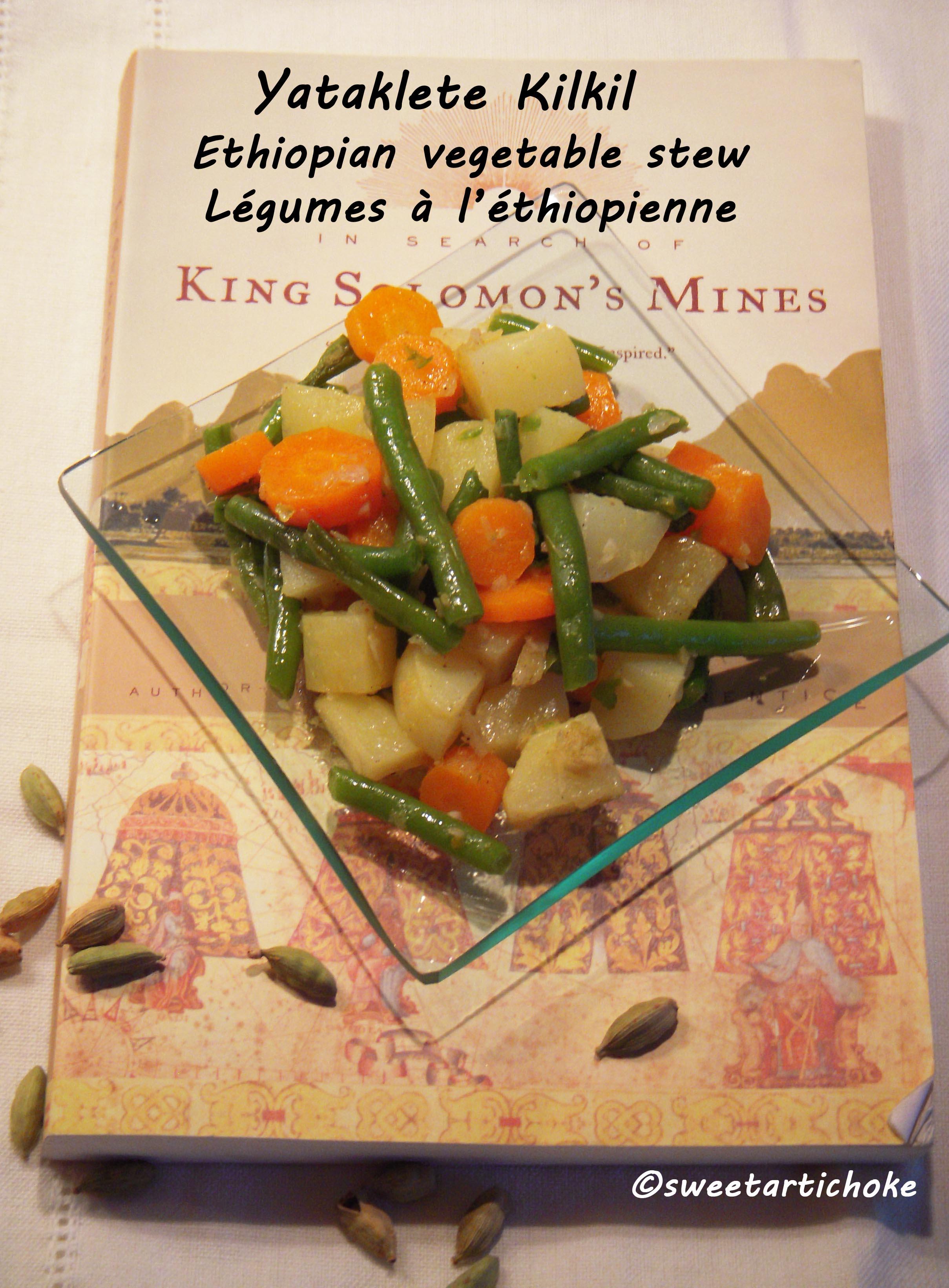 Yataklete Kilkil Ethiopian Vegetable Stew Légumes à L - Cuisine ethiopienne