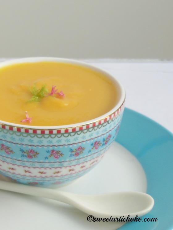 Sweet Potato and lentil soup – Soupe de lentilles et patatesdouces